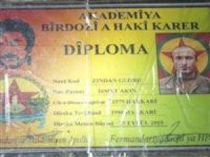 PKK diploma dağıtıyor