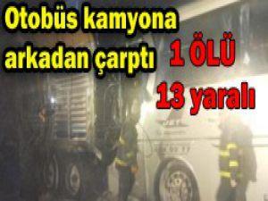 Konyada trafik kazası:1 ölü, 13 yaralı