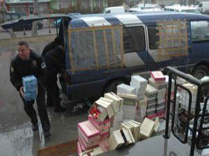 Konyada kaçak sigara operasyonu