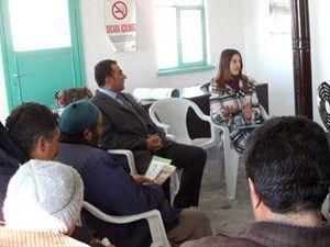 Emirgazide çiftçiye eğitim semineri