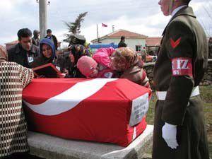 Kazada ölen askere son görev