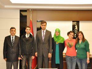 Azeri heyetten Başkan Kalaycıya ziyaret