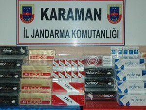 Karamanda kaçak sigara operasyonu