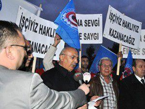 Türk Metal Sendikası İşçileri eylem yaptı