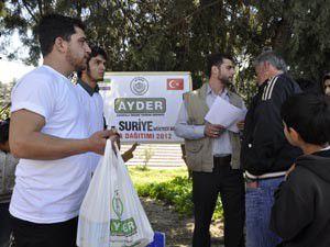 AYDER Suriyeli mültecilere yardım eli uzattı