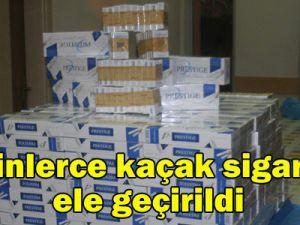 400 paket kaçak sigara ele geçirildi
