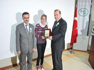 Büşra yarışmada birinci oldu
