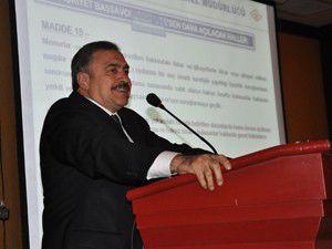 Eroğlu Tapu Kadastro seminerine katıldı