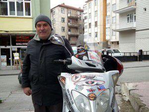 Motorize seyyah Akşehire geldi