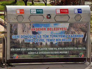 Akşehire geri dönüşüm kumbarası