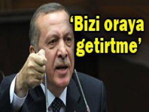 Erdoğandan Suriyeye uyarı