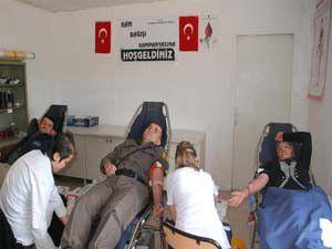Kızören köyünden Kızalaya kan bağışı