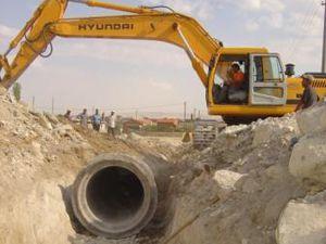 Karapınar kanalizasyona kavuşuyor