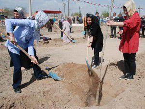 Karatay Belediyesi ağaçlandırmaya devam ediyor