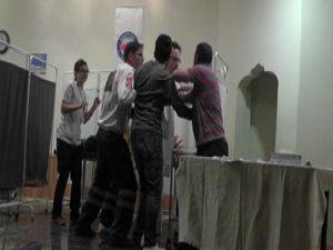 Beyşehirde sağlıkta şiddet tiyatro oyunu