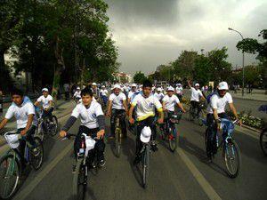 AGDden Sevgi ve kardeşlik bisiklet yürüyüşü