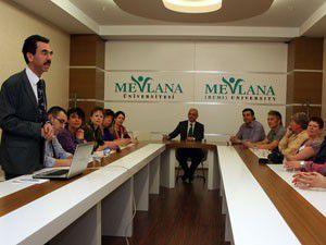 Mevlâna Üniversitesine yabancı misafir
