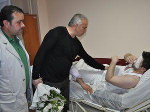 Konyaspordan yaralanan taraftara ziyaret