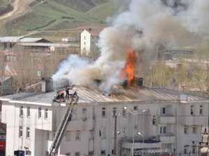 Askerlik şubesinde yangın çıktı