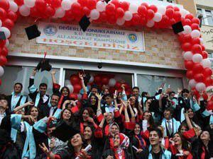 Beyşehirde mezuniyet coşkusu