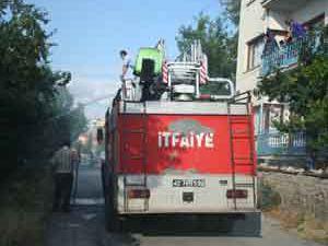 Beyşehirde ot yangını
