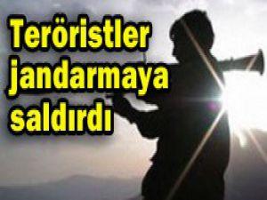 Teröristler jandarmaya saldırdı