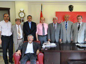 Türk-İşten CHPye ziyaret