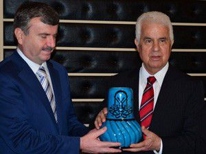 Eroğlu, Başkan Akyüreki ziyaret etti