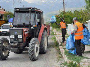Gölçayır çöp toplamada örnek oluyor