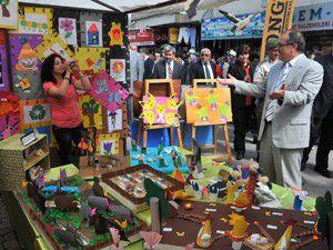 Akşehirde yıl sonu sergileri açıldı