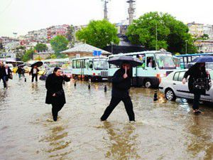Marmarayı sel aldı