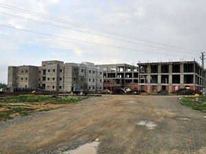 Akşehirdeki hastane inşaatı hızla yükseliyor