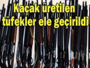 Kaçak tüfekler ele geçirildi