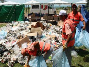 Festivalden geriye çöp yığını kaldı