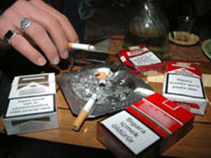 Sigara paketlerinin üzerine uyarı resmi