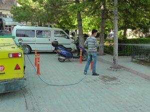 Beyşehirde haşereyle mücadele