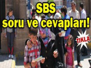 SBS soru ve cevapları yayınlandı