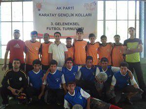 Ak Gençlik Karatayda futbol turnuvası