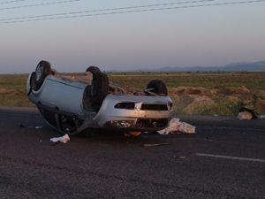 Akşehirde otomobil takla attı: 2 ölü, 3 yaralı