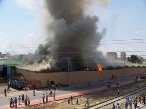 Konya halinde büyük yangın