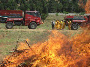 Beyşehirde orman yangın tatbikatları sürüyor
