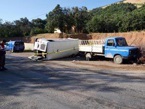 Akşehirde trafik kazası: 1 ölü, 11 yaralı