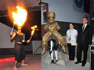 Akşehirde ateşbaz ve jöngör gösterisi