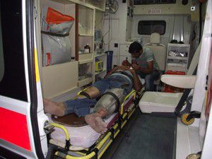 Otomobilin çarptığı şahıs yaralandı