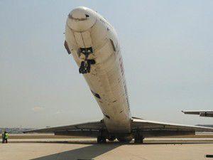 Uçak şaha kalktı!