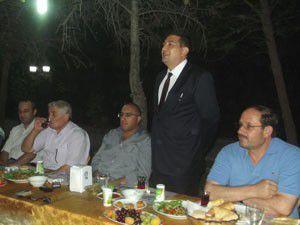 Karapınarda Aksoya veda yemeği