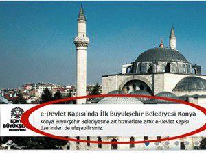 e-Devlet Kapısında İlk Büyükşehir Konya