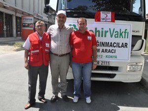 Mehir Vakfı Suriyeli sığınmacılara yardım gönderdi