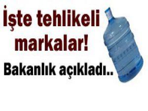 Damacana su markaları açıklandı!