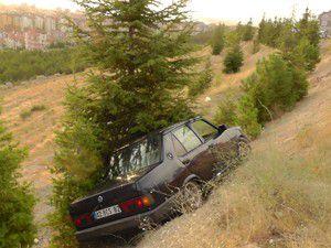Ağaca çarpınca uçurumdan kurtuldu